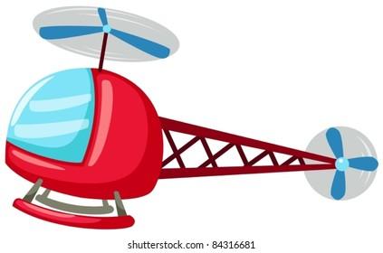 illustration of isolated cartoon helicopter on white background