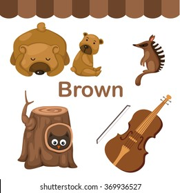Illustration of isolated color  brown group vector