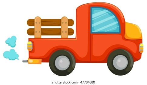 illustration of isolated country car on white background