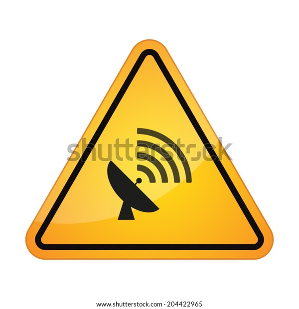 illustration of an isolated danger signal
