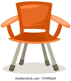 illustration of isolated fishing chair on white background