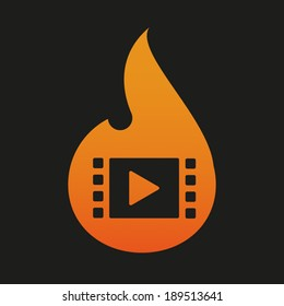Illustration of an isolated flame icon