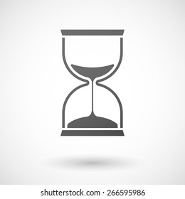 Illustration of an isolated grey sand clock icon