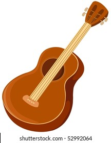 illustration of isolated a guitar on white background