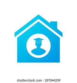 Illustration of an isolated house icon
