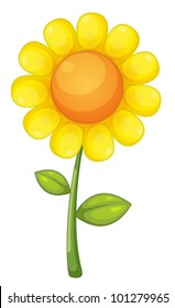 illustration of an isolated sunflower
