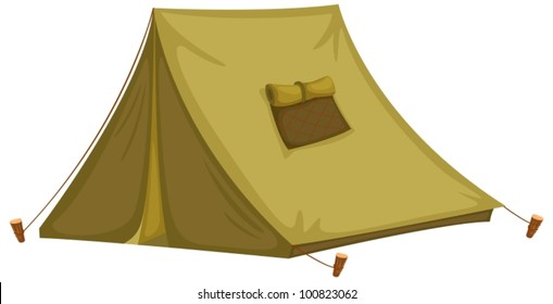 Illustration of an isolated tent
