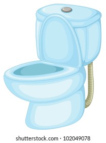 Illustration of an isolated toilet