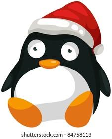 illustration of isolated toy penguin on white background