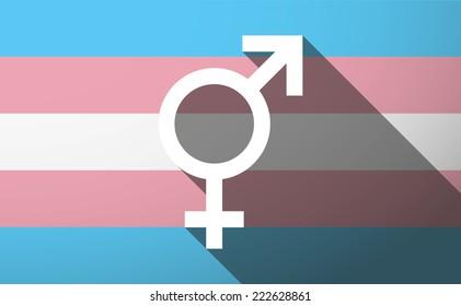 Illustration of an isolated transgender flag