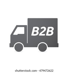 Illustration of an isolated truck icon with    the text B2B