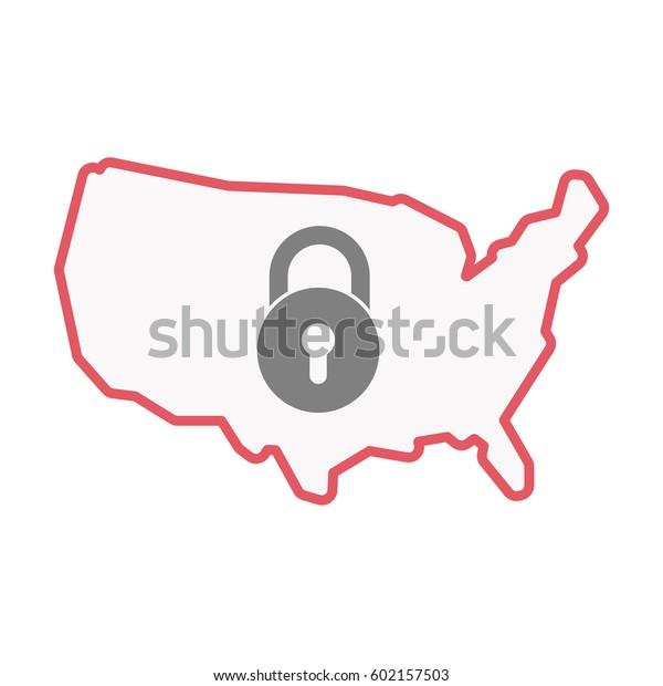 Illustration Isolated United States America Line Stock Vector ... on usa map key, louisiana map key, liberia map key, sudan map key, belgium map key, missouri map key, sandpoint map key, americas map key, indiana map key, sierra leone map key, zambia map key, paris map key, florida map key, animal map key, bermuda map key, delaware map key, austria map key, slovakia map key, mexico map key, north carolina map key,