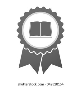 Illustration of an isolated vector badge icon with a book