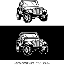 An illustration of a jeep vehicle