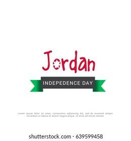 Illustration Of Jordan Independence Day Background.