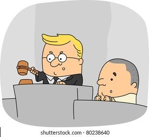 Illustration of a Judge at Work