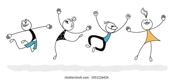 Illustration of Jumping Stickman