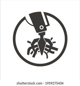 illustration of junkyard, icon for junkyard area.