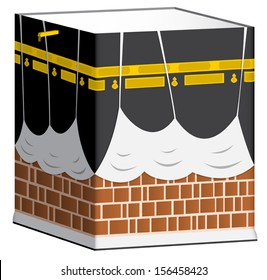 Illustration of Kaaba in Mecca isolated. Eps 10.