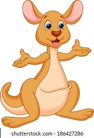 Illustration of kangaroo cartoon