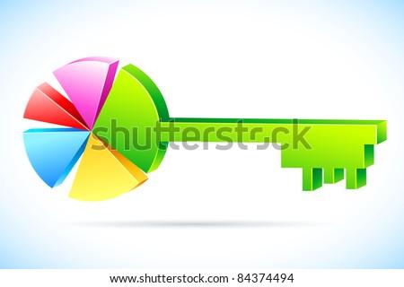 Illustration Key Shape Pie Chart On Stock Vector Royalty Free