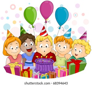 Kids Birthday Party Cartoon Images Stock Photos Vectors Shutterstock
