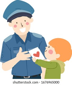 clipart police images stock photos vectors shutterstock https www shutterstock com image vector illustration kid boy giving appreciation card 1676965000