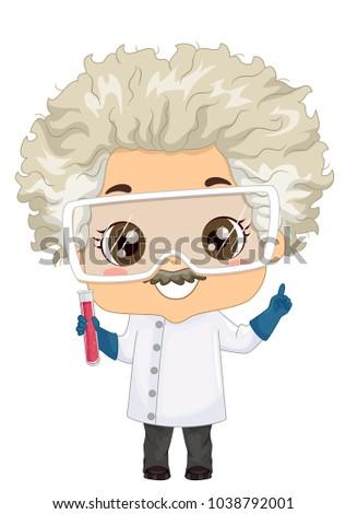 illustration kid boy wearing lab goggles stock vector royalty free