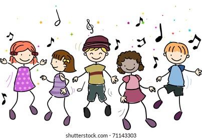 Children Dance Clipart Images, Stock Photos & Vectors | Shutterstock