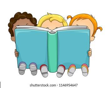 Children Reading Clip Art Images, Stock Photos & Vectors | Shutterstock