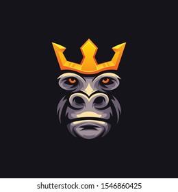illustration king kong e sport logo foryour team gaming