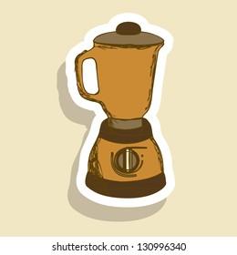 Illustration of kitchen appliances. illustration of a blender. vector illustration