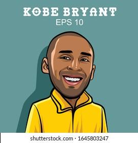 illustration Kobe Bryant. National Basketball Association. End of career: 2016.
