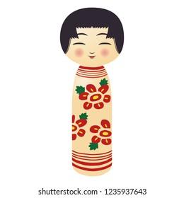 Illustration of the Kokeshi