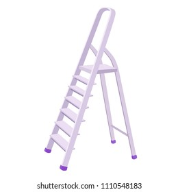 illustration Ladder Silver metal