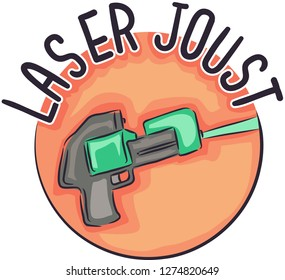 Illustration of a Laser Joust Gun Icon for a Tag Game