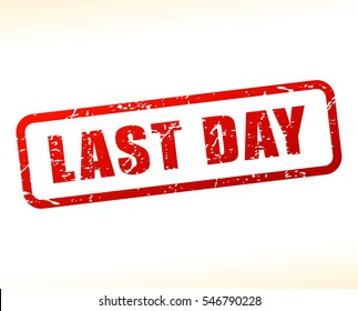 Illustration of last day text