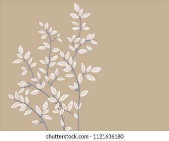 Illustration leaves and branches
