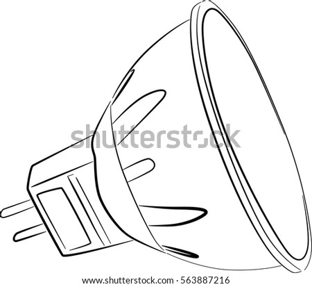 illustration led electric l sketch isolated stock vector royalty Residential Electrical Symbols illustration with led electric l sketch isolated on white background