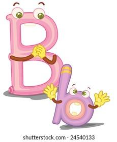 Illustration of the letter B