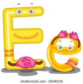 Illustration of the letter E