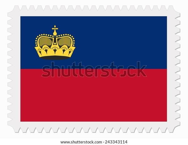 illustration Liechtenstein flag stamp