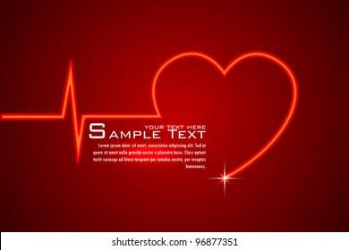 illustration of life line forming heart shape