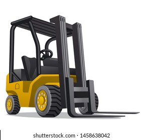 illustration of the lift truck on the white background