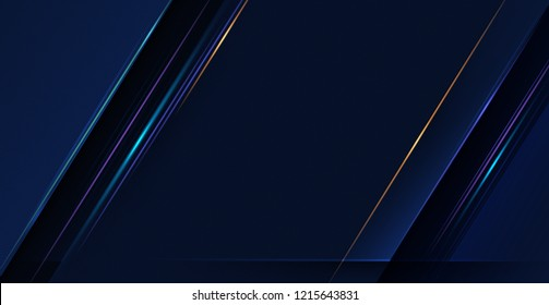 Illustration of light ray, stripe line with blue light, speed motion background.Vector design abstract, science, futuristic, energy, modern digital technology concept for wallpaper, banner background