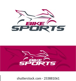 illustration I like motorcycles, vector template for design t-shirts, graphic, logo badge label service concept sports
