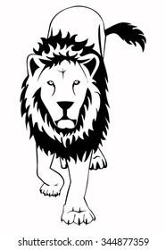 Illustration of the lion
