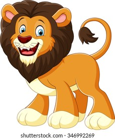 illustration lion cartoon