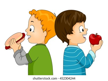 Eating Apple Clipart Images Stock Photos Vectors
