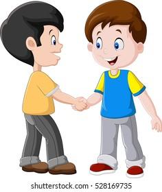 Kids Shaking Hands Images, Stock Photos & Vectors ...